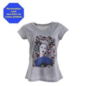 Camisa Gola V Feminina